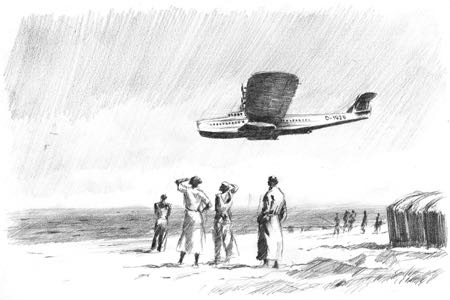 Dornier Do-X avaition art perinotto