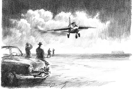 Grognard & Panhard aviation art perinotto