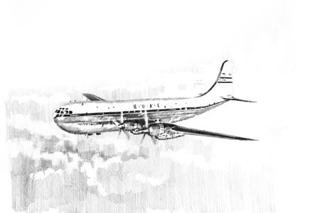 strato cruiser aviation art boac perinotto